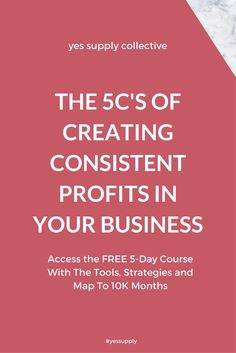 Wondering how you can start making consistent profits in your business so you can take your side-hustle and make it full time? In this FREE 5-Day course, Reese helps you map out your passive and active income products in your business, know where to focus your energy, and how she cultivated a community of over 20,000 engaged followers on social media to turn her passion into profits. Sign up for the free course here: www.yessupply.co/5c