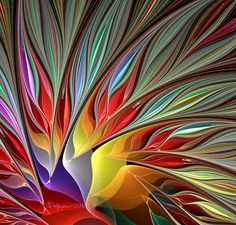 Fractal bird of paradise by Wolfepaw on deviantart.com