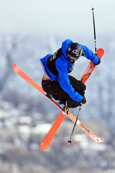 sportbygettyimages: X Games Aspen 2013 - Day 4 Nick Goepper of the USA spins through the air to win the gold medal in the Men's Ski Slopestyle Final during the Winter X Games Aspen 2013 at Buttermilk Mountain on January 27, 2013 in Aspen, Colorado. Photo by Doug Pensinger/Getty Images