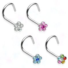 We've also just added these 20 gauge flower nose screw rings - check them out!