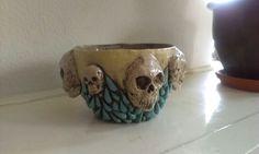 Ceramics - pot with skulls