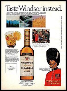 1974 Windsor Canadian #Whisky Drink #Canada #Guardsman #1970s #Vintage Photo Print #Ad #WindsorCanadian