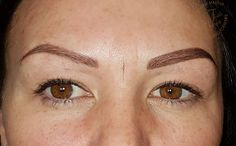Predraw on one side before taking measurements. Taking Measurements, Permanent Makeup Eyebrows, Contour, Face, Beauty, Contouring, Cosmetology, Faces