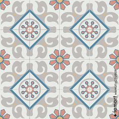 Iamart encaustic cement tiles combine the industrial beauty, the highly valued and reliable quality of the past centuries tailored to the needs of nowadays. Wall And Floor Tiles, Classic Collection, Cement, Quilts, Handmade, Design, Home Decor, Hand Made, Decoration Home