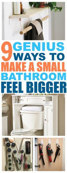 9 Ways To Make A Tiny Bathroom Feel Bigger - That Vintage Life