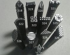 35, Metal Jewelry Stamps, flower stamp, diamond flourish, texture stamp, jewelry making tools, stamping tools, leather stamp, metal punch