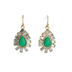Bijoux Brincos for Women 2014 Newest Fashion Classical Green Yellow White Resin Stone Teardrop Earrings #Affiliate