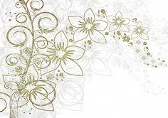 Kwiaty, Tło, Dziennik, Liście, Flory, Karta Z Pozdrow