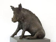 Escultura de bronce caza figura jabalí escultura de bronce estilo antiguo Wild Boar