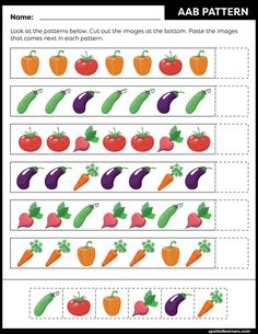 These FREE printable worksheets for kids are great for practicing spatial concepts! These patterns worksheets can be used as homework, bell-ringer activity, warm-up activity, or speech therapy work. Fun activity for your kindergarten or grade 1 students! Kids Math Worksheets, Free Printable Worksheets, Preschool Printables, Preschool Activities, Creative Activities For Kids, Educational Games For Kids, Pattern Worksheet, Math Patterns, Preschool Programs