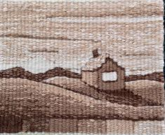 Sarah Swett, House on a Hill, 3.5 x 4.5 inches, tapestry