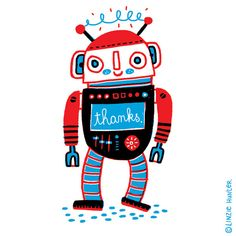 Grateful Robot | © Linzie Hunter