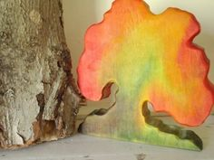 Lovely Autumn Tree  -  Jack Frost Was Here Tree - Waldorf  Wood Tree /Nature Table.