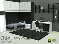 spacesims' Claire teen room
