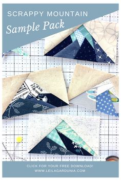 Scrappy Mountain Quilt Block Sample Pack #mountain #quilt #block #mountainquiltblock Download a free Sample Pack of the Scrappy Mountain quilt block foundations! Paper Pieced Quilt Patterns, Quilt Patterns Free, Patchwork Quilting, Patchwork Patterns, Scrappy Quilts, Small Quilts, Mini Quilts, Modern Quilting Designs, History Of Quilting