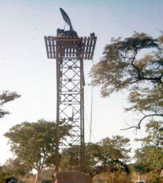 Cymberline Mortar Locating Radar on Golf Tower near Katima Mulilo. Photo:  We served with pride:  South Africans in the Military 1939-1994