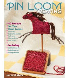 Stackpole Books-Pin Loom. Tiny palm-sized pin looms are making a comeback. Here is a great book to get started with this intriguing continous strand weaving technique. This book contains forty appeali