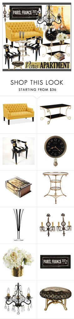 """The Perfect Paris Apartment  II"" by calamity-jane-always ❤ liked on Polyvore featuring interior, interiors, interior design, home, home decor, interior decorating, Safavieh, Howard Miller, Amrita Singh and Eichholtz"