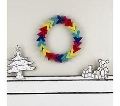 Holiday Decor: Rainbow Wreath