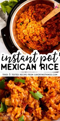 Mexican Side Dishes, Mexican Rice Recipes, Rice Side Dishes, Rice Recipes For Dinner, Dinner Side Dishes, Instant Pot Dinner Recipes, Dinner Sides, Side Dishes Easy, Food Dishes