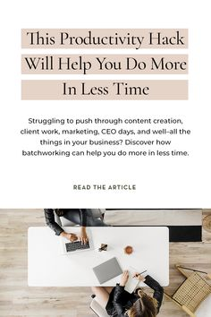 Running a business usually means at some point, you run out of time to do all the things. If you're struggling with managing your time trying to market, create content, bookkeep, idea generate, host your podcast, get client work done (and all the other stuff)–then you're going to want to learn more about this productivity hack called batchworking. Learn how to batchwork almost everything in your biz inside this episode of The Power in Purpose podcast. Successful Business Tips, Starting Your Own Business, Business Advice, Business Plan Outline, Brand Marketing Strategy, Block Scheduling, Productivity Hacks, Skills To Learn, Business Organization