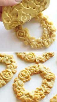 How to make molded cookies (Sweetambs). Gorgeous!