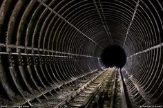 Abandoned tunnel section, The London Underground, 2009.
