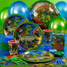 Our Teenage Mutant Ninja Turtles party supplies won't disappoint when you throw him the greatest Teenage Mutant Ninja Turtles party of all time! Birthday Express contributes all the Boys Party Supplies you need to ensure this day is special! Turtle Birthday Parties, Ninja Turtle Birthday, Birthday Party Themes, 5th Birthday, Birthday Ideas, Birthday Cake, Ninja Turtle Party Supplies, Ninja Party, Ballon
