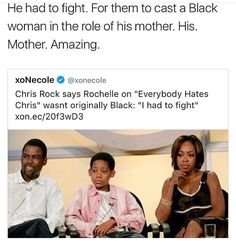 Wow!! That's a shame he had to fight for the portrayal of his mother to be played by another black women.