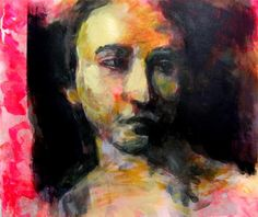'Lucretia' Acrylic and Indian ink. 2014. Pauline Agnew