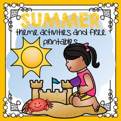 Download tons of FREE printables and theme activities for your SUMMER lesson plans and preschool and pre-K program.