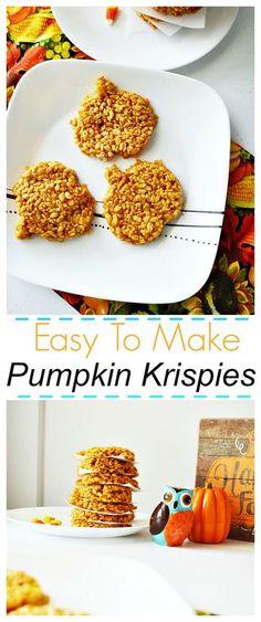 These easy To Make Pumpkin Krispies