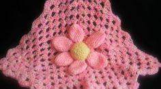Security Blanket Baby Blanket Flower Lovey by TheCrochetAnything