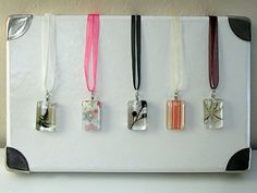 Resin pendant necklaces