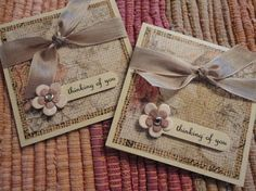 These are 3 x 3 inch cards on natural ivory card stock. This set of cards has 4 resealable cellophane envelopes included.