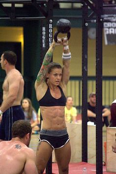 CrossFit - Christmas Abbott bad ass chick with tattoos not some skinny, high maintenance looser! She inspiring and dedicated. I like it.