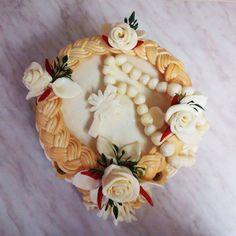 Syrová torta  s cirkevným motívom (malá)