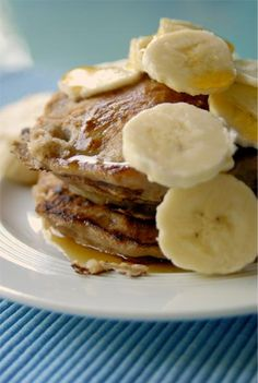 Banana Pancakes.  We're going back to bed so that we can get up and make these!