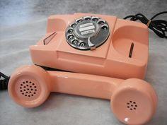 Telefone Rosa Antigo Disco Starlite Campainha Sino Trrrrrrim | R$120 no ML, quero!