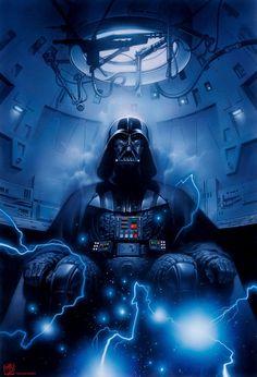 Dark Lord of the Sith, Darth Vader - Tsuneo Sanda Star Wars Fan Art, Star Trek, Darth Vader Star Wars, Marvel Dc, Images Star Wars, The Dark Side, Star Wars Wallpaper, Star Wars Poster, Love Stars