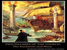 """JEZUS en MARIA Groep.: VISIOEN H. DON BOSCO: """"VISIOEN van de 2 ZUILEN"""" (1862)"""