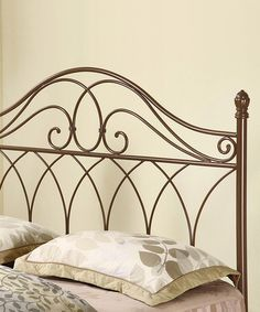 This Rich Brown Ornamental Headboard is perfect! #zulilyfinds