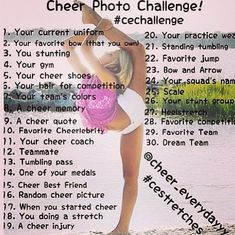 I can try to do this, but right now im not on a team and even then it will be football cheer so idk... what should i do?