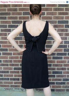 SALE Half Off 60s Black Party Dress Sleeveless by The5thHouse, $75.00