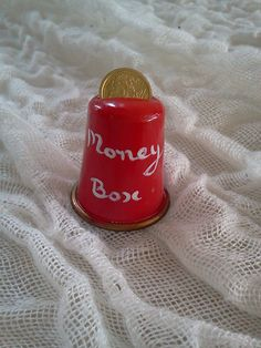 money box thimble by Thimble Collection by Tanil Vaner, via Flickr