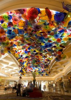 Fiori di Como, by Dale Chihuly, at the Bellagio, Las Vegas, Nevada.