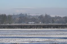 Epperstone across the snowy fields