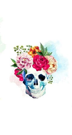 Flower Skull wallpaper