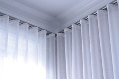 Ripplefold Drapery - Modern - Ottawa - by Heather Williamson/Faye Fortune Wave Curtains, Ceiling Curtains, Curtains And Draperies, Pleated Curtains, Drapery Panels, Drapery Styles, Drapery Designs, Curtain Styles, Window Coverings