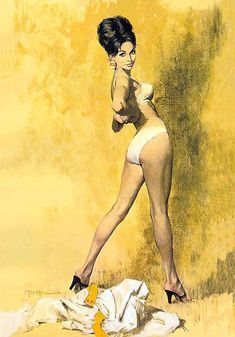 Magnificent Pulp Artworks by Robert McGinnis (36 images) | Kenga Rex